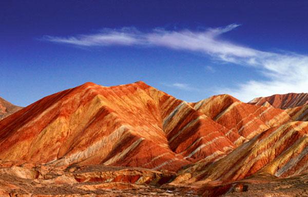 Zhangye Danxia Landform, Rainbow Mountains, Gansu