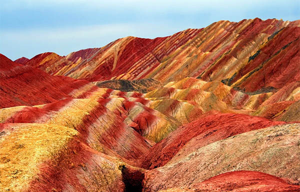 Zhangye Danxia landform - The rosy cloud
