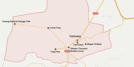 Dunhuang map