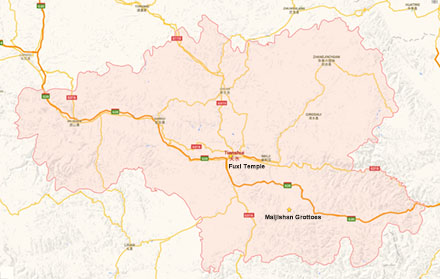 tianshui map
