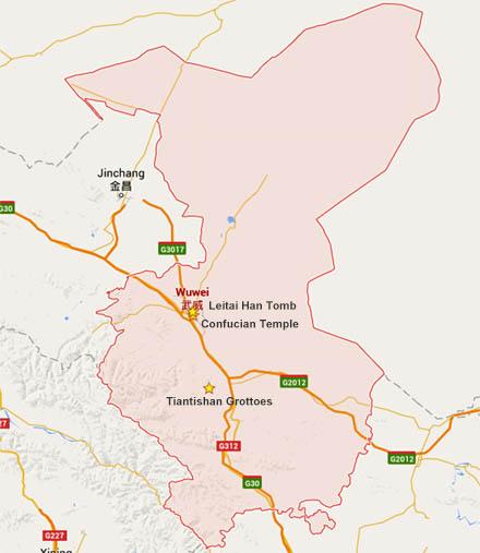 wuwei map