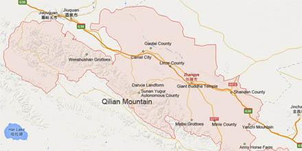 zhangye map